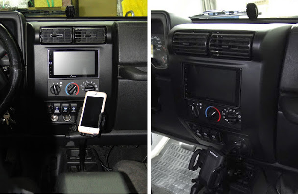 Double Din Dash Kit Wrangler 2003 2006